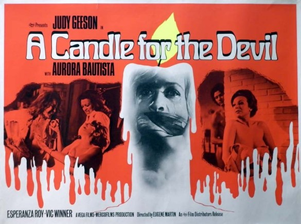 A Candle for the Devil British quad poster by Tom Chantrell