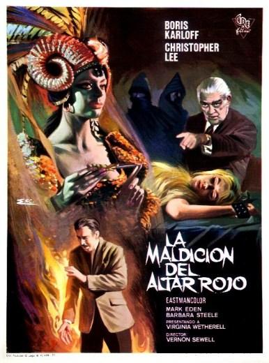 la maldicion del altar rojo - curse of the crimson altar . 1968 - poster005