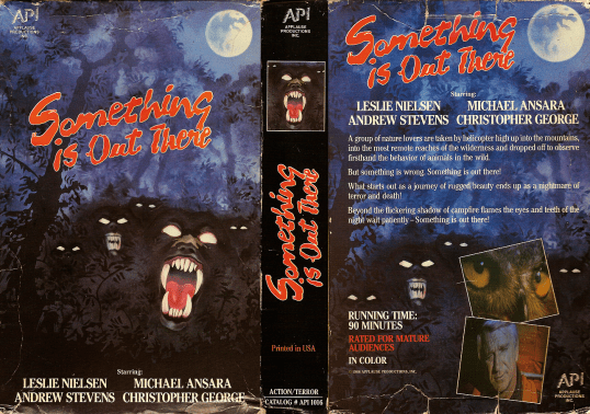 Something is Out There aka Day of the Animals VHS sleeve