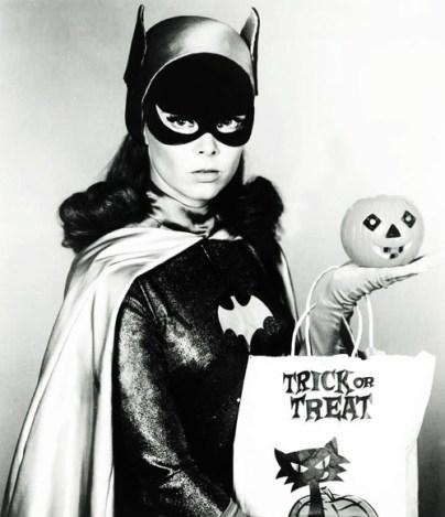 Batgirl Halloween trick or treat
