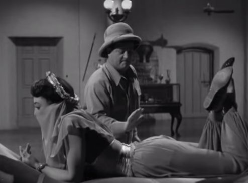 Bud Abbott and Marie Windsor in Abbott and Costello Meet the Mummy