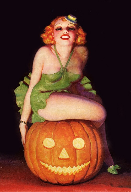 Halloween cheesecake pic by Enoch Bolles, 1945