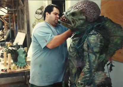Mark-Villalobos-of-SOTA-FX-working-on-Humanoids-from-the-Deep-1996-mutant-fish-man
