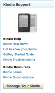 Kindle Website Support