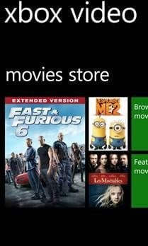 xbox movie store windows phone 8