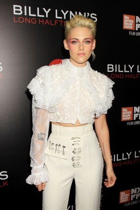 New York, NY - Oct. 14, 2016: Kristen Stewart at the NY Film Festival Special World Premiere Presentation of TriStar Pictures' BILLY LYNN'S LONG HALFTIME WALK.