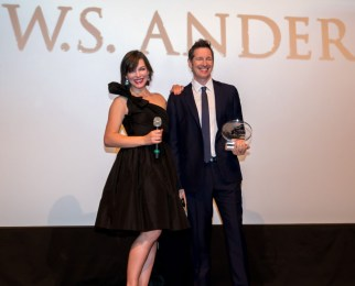 Milla Jovovich and Director Paul W.S. Anderson receive the 2016 CineAsia Franchise Award.