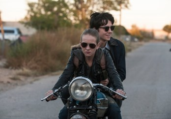 Tulsa (Britt Robertson) rides with Gardner (Asa Butterfield) on her motorcycle