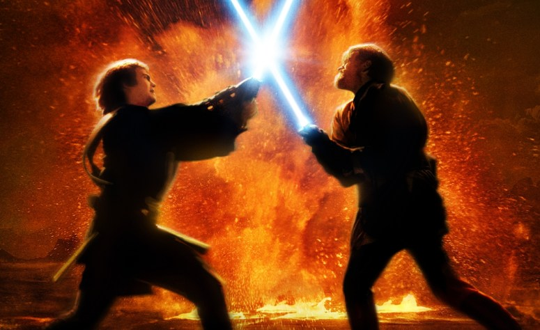 duel on mustafar revenge of the sith