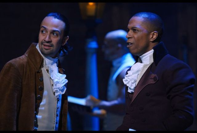 Lin-Manuel Miranda and Leslie Odom, Jr. in 'Hamilton'
