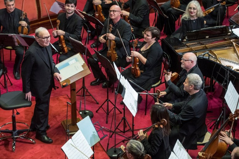 Ennio Morricone leading an orchestra June of 2020, at the age of 91.