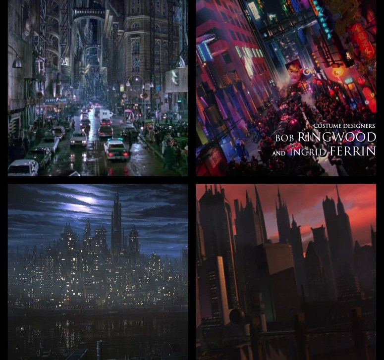 A collection from Warner Bros scenes from Batman Forever and Batman & Robin