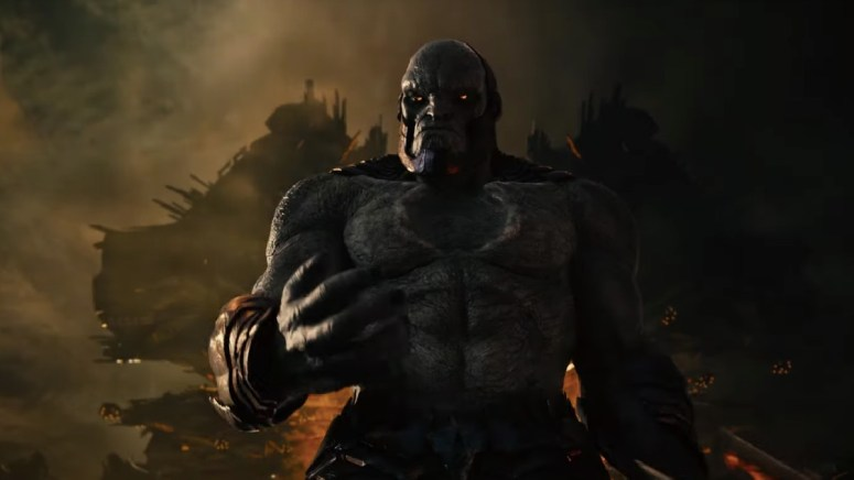 We get our first official peek at Uxas before he becomes Darkseid in The Snyder Cut trailer.