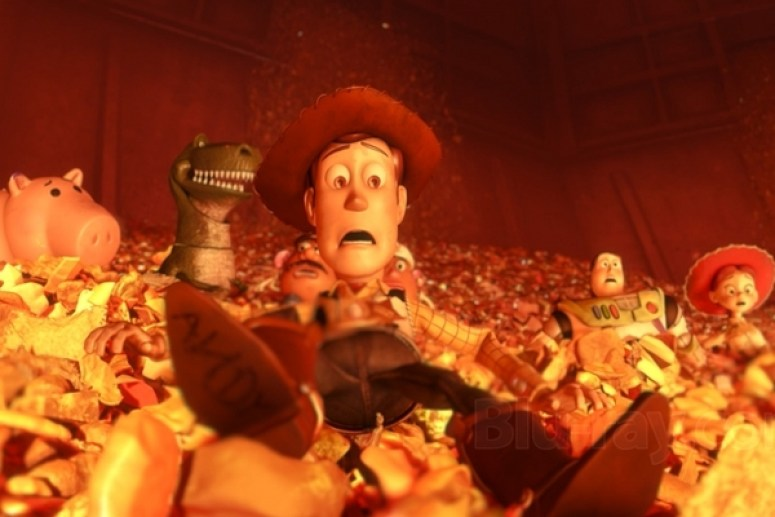 Toy Story 3 - the toys in the incinerator