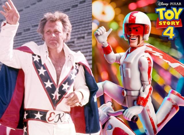 Evel Knievel vs. Duke Caboom. A match to the death or in a court of law.
