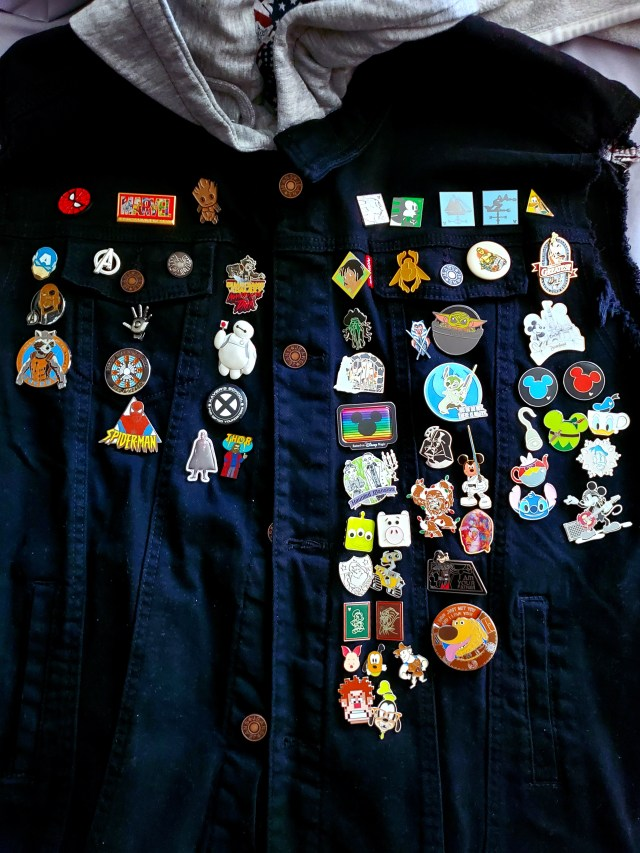 Inside the Matrix and a ton of a amusement park pins. That's our Lo.