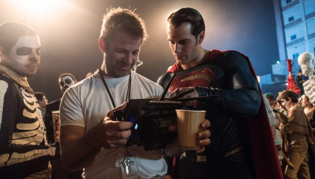 Zack Snyder teaching Henry Cavill about being super