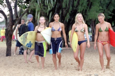 The Girls Of Blue Crush Hit The Beach Click The Pic For A Larger Version