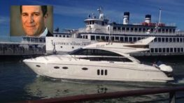 Nat Simons and his yacht