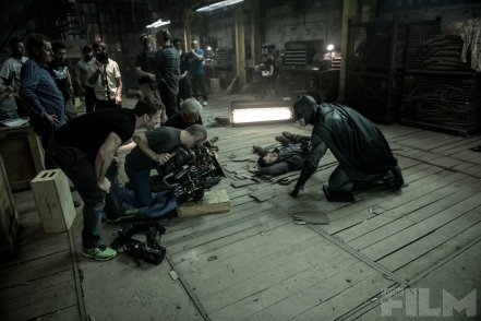 Zack Snyder & Ben Affleck on set 'Batman V Superman: Dawn of Justice'