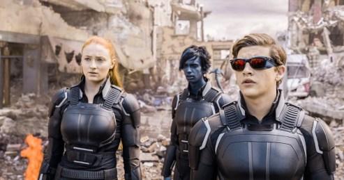 Sophie Turner, Kodi Smit-McPhee & Tye Sheridan in X-Men: Apocalypse