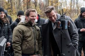 Zack Snyder & Ben Affleck on set Batman v Superman: Dawn of Justice