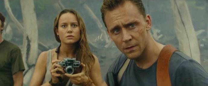 Brie Larson & Tom Hiddleston in Kong: Skull Island