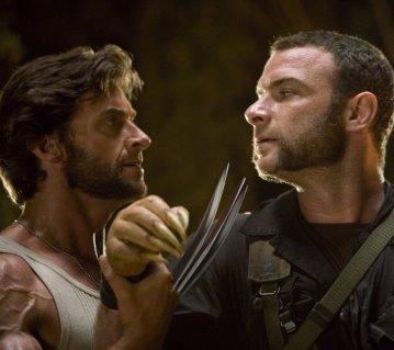 Hugh Jackman & Liev Schreiber in X-Men Origins: Wolverine