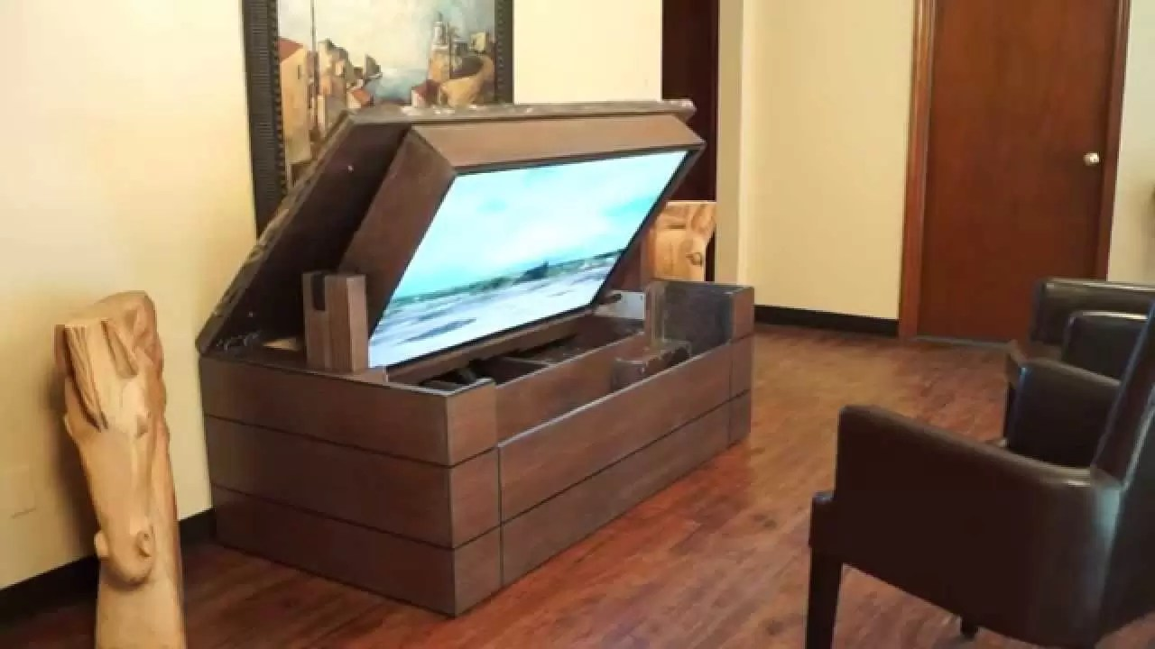 how to make a tv lift cabinet movie