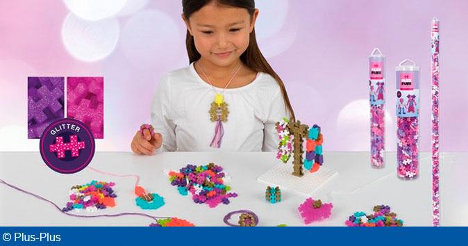 Plus-Plus har netop frigivet to nye produktserier: Plus-Plus Go! og Plus-Plus Jewelry og Glitter