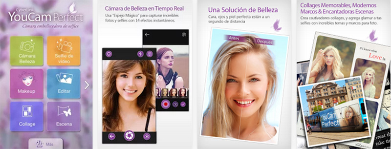 aplicación para selfies YouCam Perfect iphone android