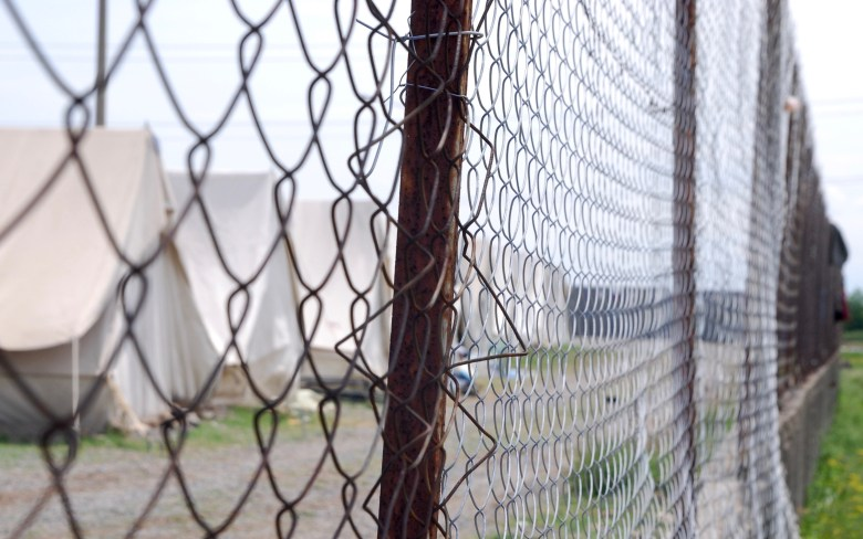 Fence around Giannitsa camp. Photo: Moving Europe