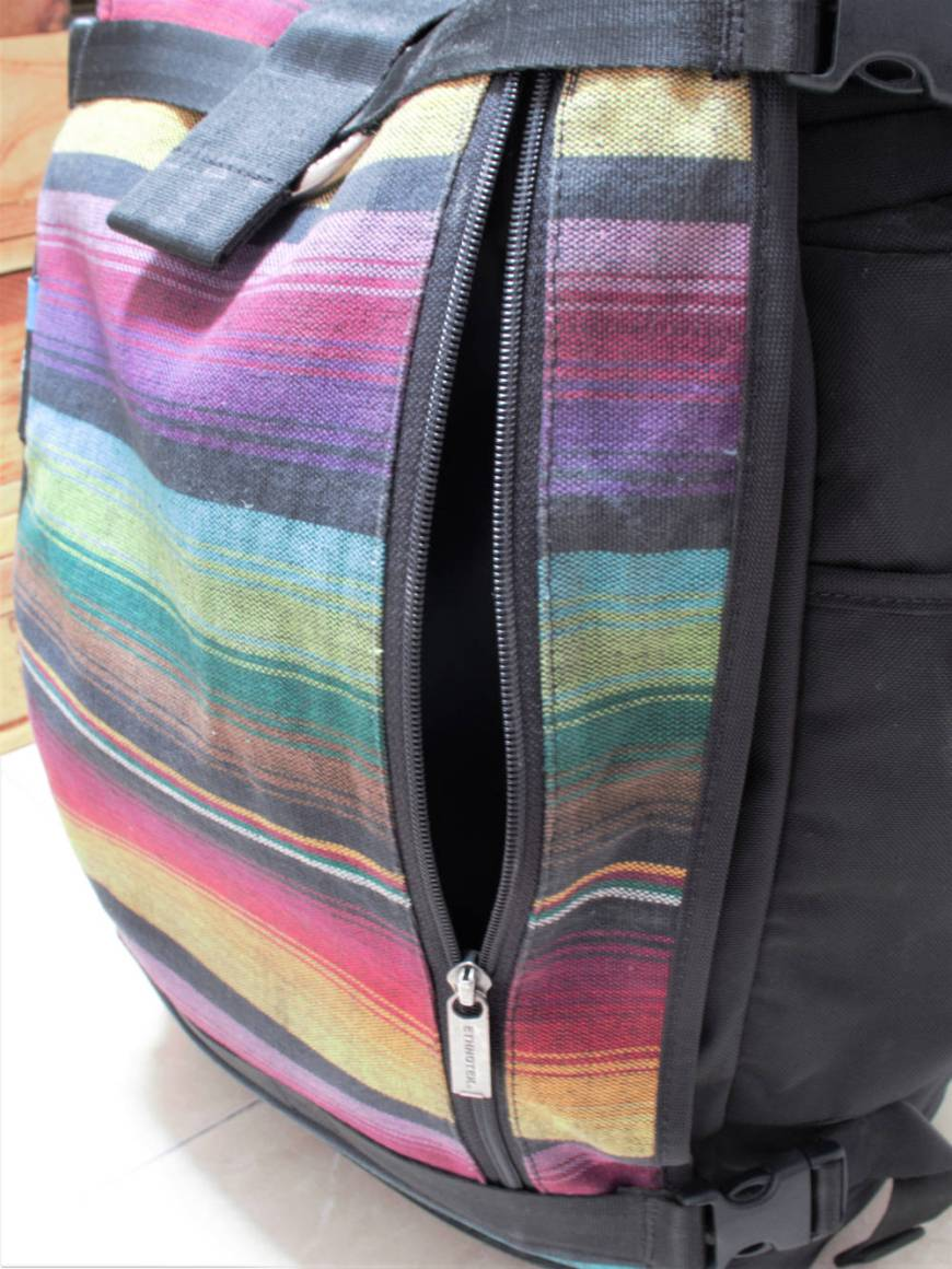 Reißverschlusstasche vorne Ethnotek Raja - Ethnotek Raja - Der beste Hangepäck-Rucksack