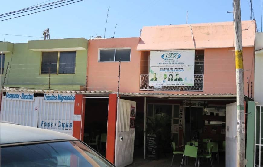 Haus der Beratungsstelle gegenüber dem Instituto Nacional de Migración in Querétaro