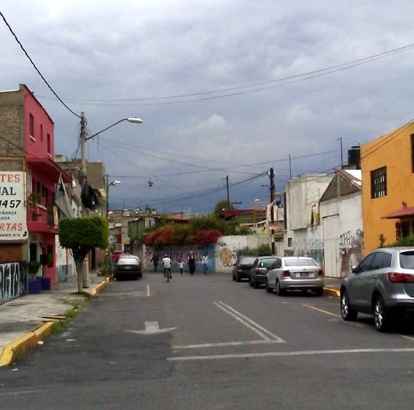 In den Straßen Iztapalapas in Mexiko-Stadt