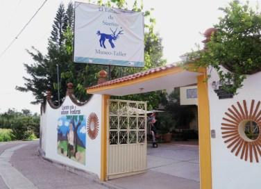 Eingang zum Museum in Arrazola