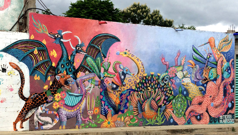 Streetart in Arrazola
