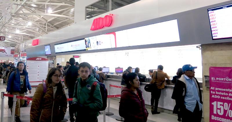 ADO Schalter - Mit dem Bus durch Mexiko - So geht's