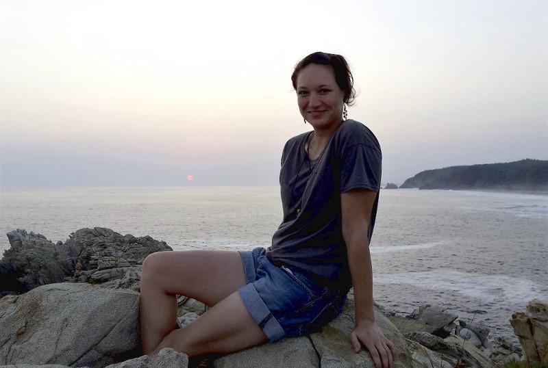Mazunte Sonnenuntergang ich - Zwei Monate Mexiko - Backpacking Reiseroute