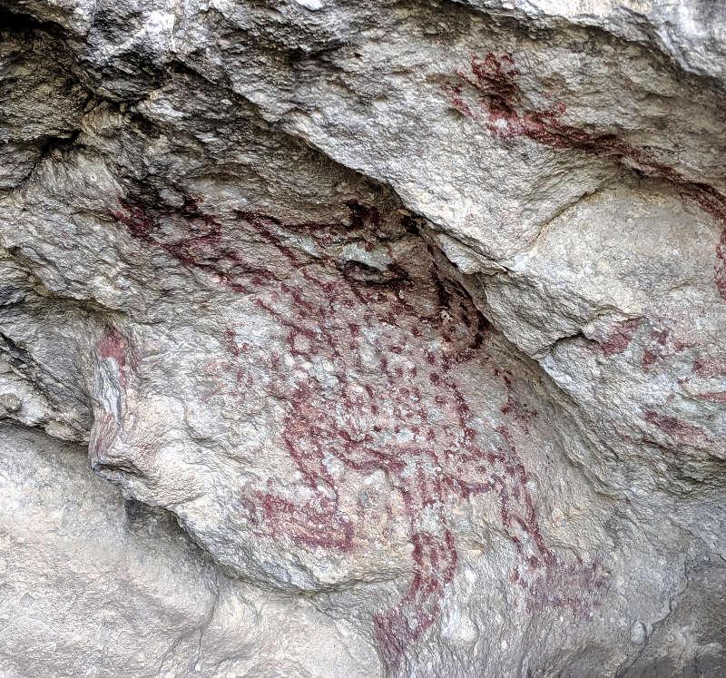 Jaguar painting - Höhlenmalerei in Oaxaca - Zeitreise in die Welt der Nomaden