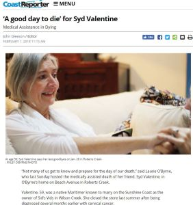 Article on Syd Valentine: A Good Day to Die