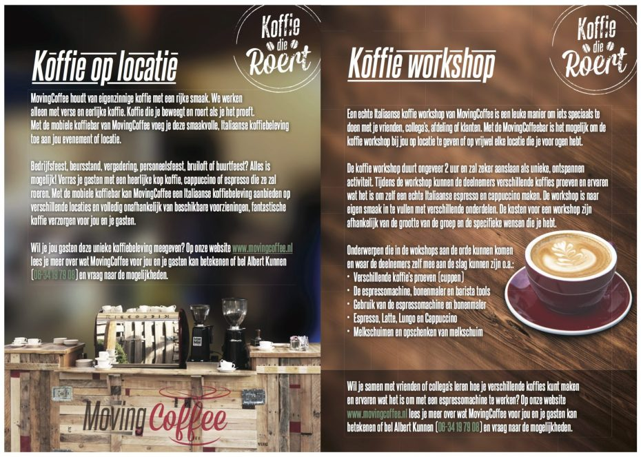 flyer movingcoffee