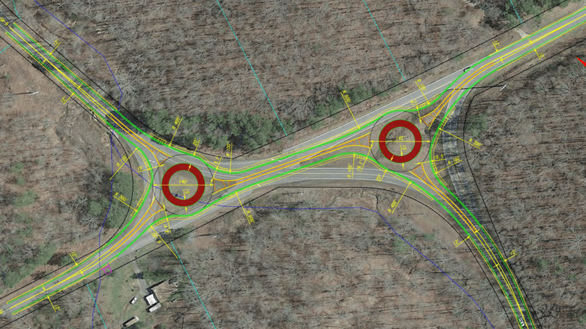 Engineering Rendering of Two Roundabouts