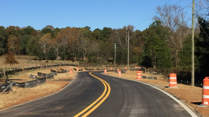 Photo of Lester Mill Road under construction (staff photo)