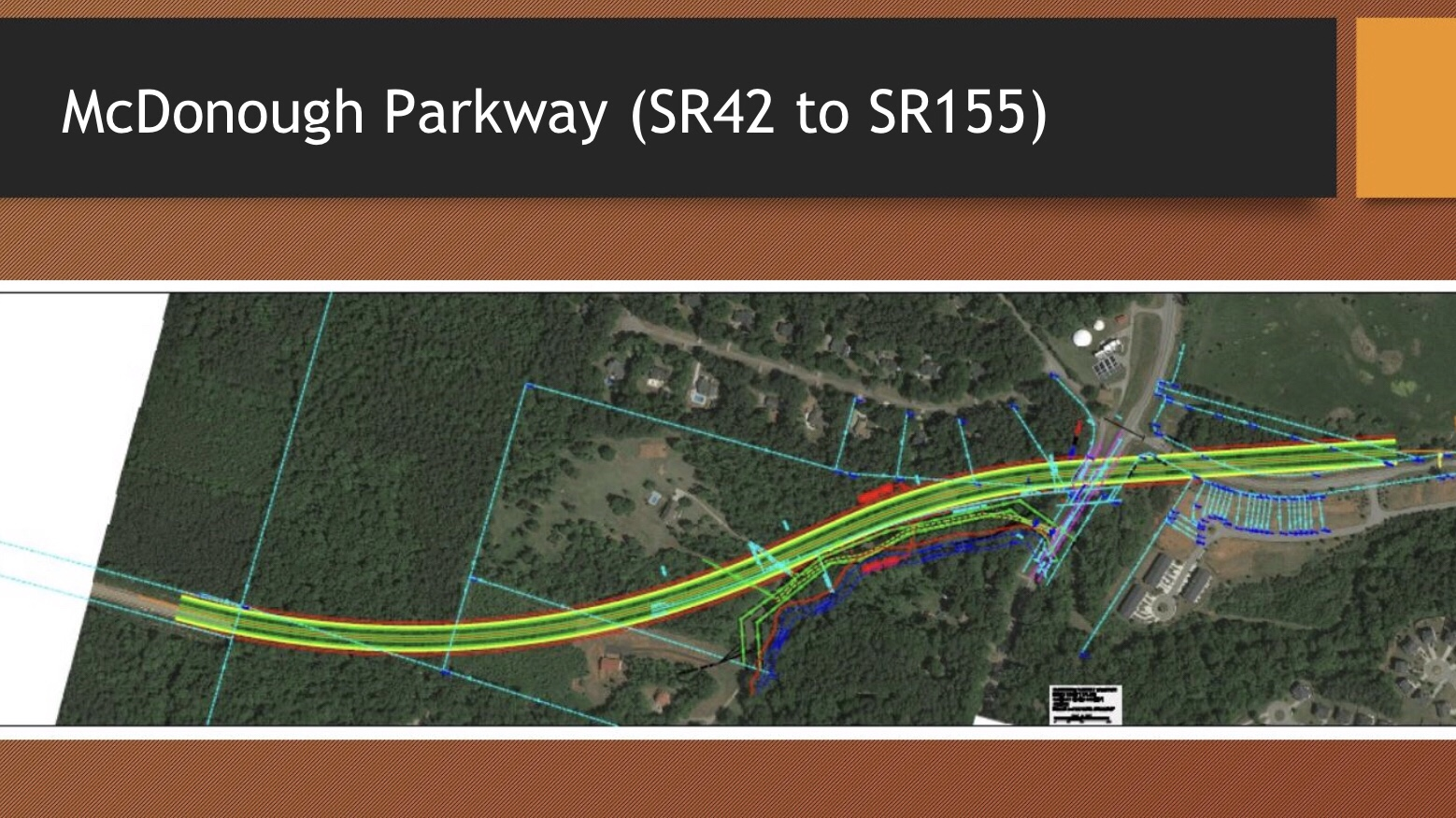 Concept layout of McDonough Parkway north (Henry County photo)