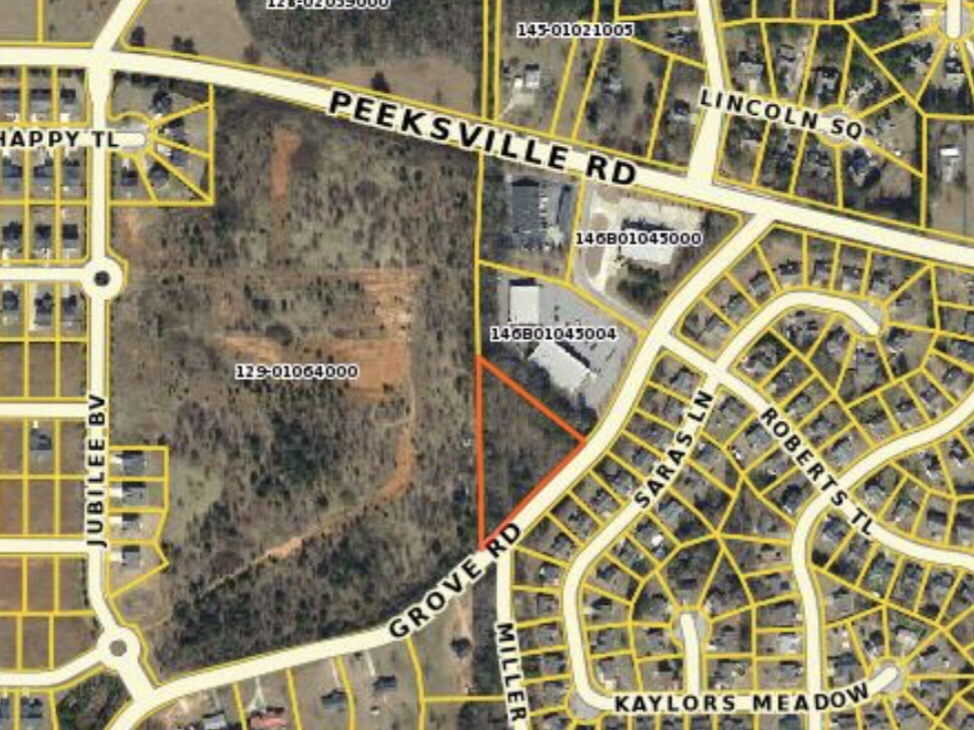 Map of LG Partners requested rezoning