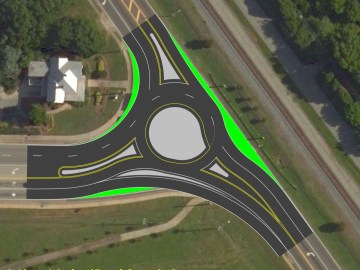 Concept roundabout for Bill Gardner Parkway at SR 42