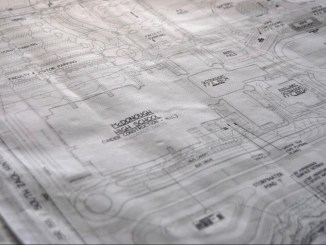 Photo of blueprints for McDonough High School (Henry Herald photo)