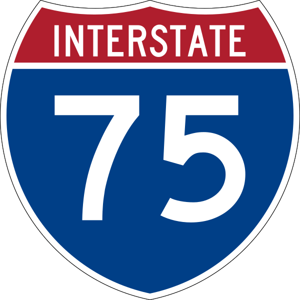 I-75 road sign