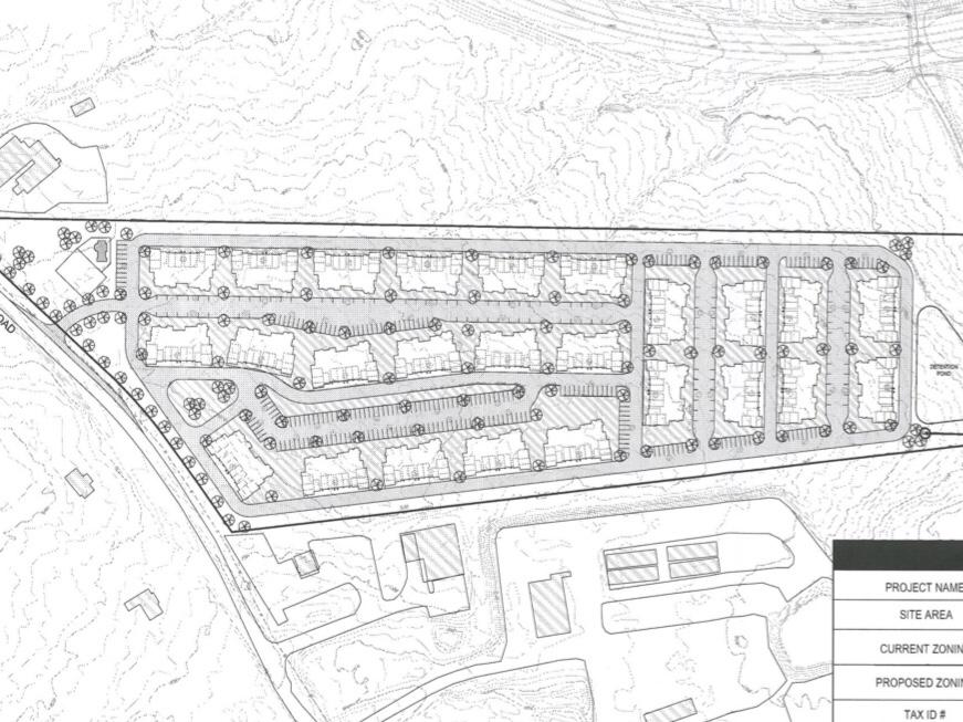 Concept site plan for Mt Carmel Road apartments